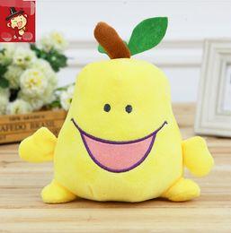 Wholesale 18CM Stuffed Plush Pendant Expression Pear Plush Toys Baby Kids Toys Brithday Wedding Active Gift