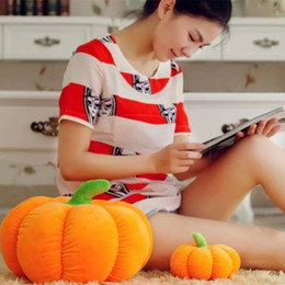 Cute 2016 New Pumpkin Plush Toys Halloween Soft Stuffed Plush Toys Gifts For Kids Adult 20cm 40cm