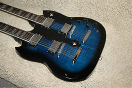 Wholesale - blue Classic Double Neck 1275 Custom Electric Guitar 6 strings and 12 strings Free Shipping A11189