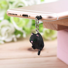 Wholesale In Stock Newest Cute Cat Hanging mm Anti Dust Earphone Jack Plug Stopper Cap For Phone