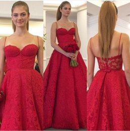 Wholesale Cheap Elegant Elie Saab Dress - Elegant Zuhair Murad Red Full Lace Prom Dresses Vintage Backless Long Elie Saab 2016 Cheap Sexy Evening Party Gowns Special Occasion Dress