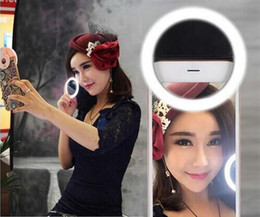 Wholesale Mobile Phone LED Cover Case For iPhone S LG Samsung S6 Android Phone Adjustable Beauty Selfie Ring Bright Flash Light Camera