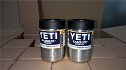 Wholesale 12 oz Yeti Drop shipping Vacuum Insulated Rambler Colster Insulated Cup Mug Drink Holder Insulated Koozie Stainless Steel AAAA QUALITY