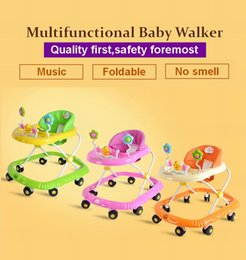 Wholesale multifunctional baby walkers auto safe lock music foldable baby walker with wheels baby stroller baby carrier
