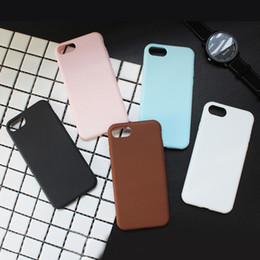 Ultra Thin Cell Phone Cases Light Blue Pink Phone Covers with TPU for iphone 7 7Plus 6s 88