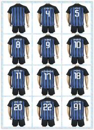 Wholesale Top Fast Uniforms Kit Soccer Jersey Internazionale Milan MEDEL Podolski ICARDI KOVACIC Blue Home Jerseys shirt