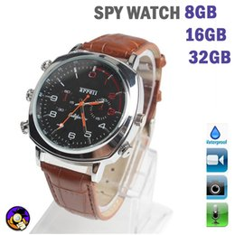 Wholesale 8GB GB GB Spy Camera Watch Hidden DVR HD DV Waterproof Audio Video Recording Take Picture