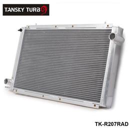 TANSKY -NEW Performance Radiator Manual aluminum 42mm2 Row For 92-00 SUBARU IMPREZA WRX Sti GC8 TK-R207RAD