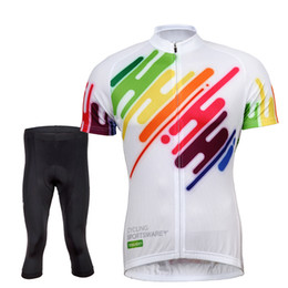Tasdan Popular Cycling Jerseys Sets Colorful Mens Short Cycling Suits Set Discovery Cycling Jerseys Short Pants Sport Set