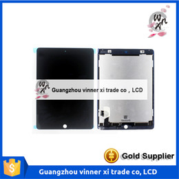 Wholesale Full LCD Display For iPad Air LCD Touch Screen Digitizer Assembly Replacement For ipad ipad6 A1566 A1567 Free DHL