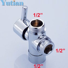 Wholesale Brass UK quot shattaf sprayer Diverters Bathroom Faucet Accessories New Brass water shower diverter YT