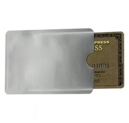 Wholesale New Safe Anti Theft RFID Blocking Holder Shield Contactless Magnetic IC ID Bank Credit Cards Secure Sleeve Waterproof