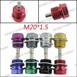Wholesale M20 P1 MM Magnetic Oil Drain Plug Aluminum Bolt Oil Sump drain plug For Most SBR All other vehicles with x1 threaded