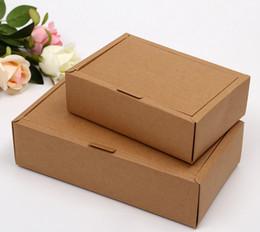 Latas de papel en venta-logo Venta directa de fábrica se pueden imprimir papel Kraft cajas de papel de embalaje caja de envío libre de Clamshell