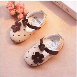 2018 summer autumn girl baby shoes a toddler shoe leather shoes single shoes rubber at the end of the princess 'shoes