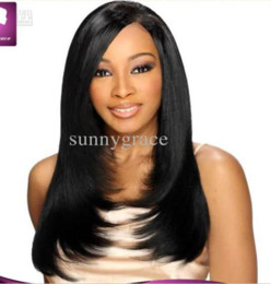 Side parting silky straight Indian hair full lace wig layered wig indian hair wigs for black women
