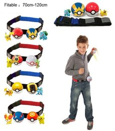 Wholesale Poke game go action figure Clip N Carry Poké Ball Belt Poke Ball Belt poke ball action figure doll Pikachu Style