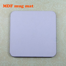 Wholesale Drop shipping Sublimation MDF Board Mug Mats White Blank Materials for heat transfer Square size x95mm