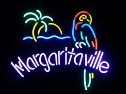 Wholesale Margaritaville Parrot Real Glass Neon Sign Beer Bar