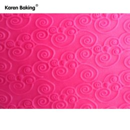 Wholesale Bakeware Rolling Pins Pastry Boards Beautiful Design Embossing Rolling Pins Sugar Craft Tools Fondant Cake Decoration A161