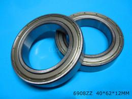 6908ZZ bearing Metal sealed bearing Thin wall bearing free shipping 6908 6908ZZ 40*62*12 mm chrome steel deep groove bearing
