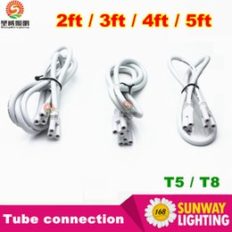 Wholesale 2ft ft ft ft Cable for Integrated T8 T5 led tubes lights connection double end thick line