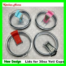Wholesale New Design oz Yeti Cups Leakproof Lids Spillproof Covers For Yeti Ramber Tumblers Cups Novelty Leak Spill Proof Yeti Lids Covers