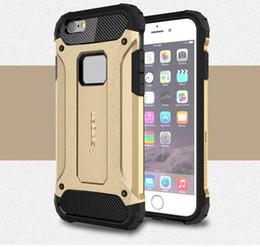 Protection téléphone cellulaire à vendre-Étui pour téléphone cellulaire Étui rigide en caoutchouc de protection double couche pour l'iPhone SE 5 5 6 6S 7 7plus Samsung S7 edge S6 S5