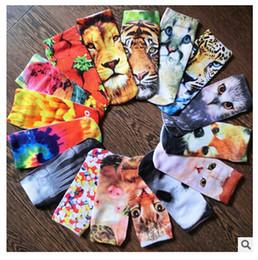 Descuento tipos de pantalones cortos para las mujeres 20 calcetines del tobillo de la historieta 3D de la manera calcetines 3D del tobillo de la impresión de la manera 3D impresos calcetines cortos calientes de los calcetines 3D calcetín colorido de las mujeres libres de DHL
