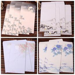 Papelería sobre de papel en Línea-Wholesale-6pcs / bolsa de Nueva lavado de las pinturas del vintage sobres de papel sobres de la tarjeta de papel envuelve el papel de regalo Papel de la oficina de útiles escolares