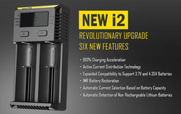 Wholesale Original Nitecore I2 Charger New Version mA Battery Dual Bay Charger wtih New Features DHL Free