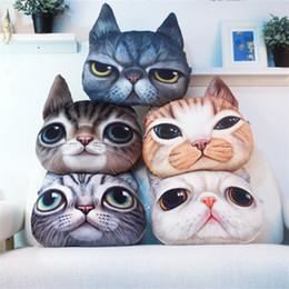 Sieste chat en Ligne-Chien chat design lancer oreiller chaise de dessin animé canapé oreiller personnalité voiture coussin créatif oreiller oreiller coussin mignon coussin 1pcs / lot