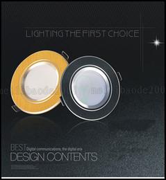 Descuento luces de techo led brillantes 3W / 5/7/12/15 / 18W LED Downlight Techo Focos super brillante Focos ultrafino anti-vaho LLWA306 lámpara de techo de iluminación