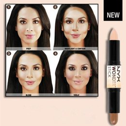 Wholesale Double ended Contour NYX Wonder Stick Foundation Hide Blemish Dark Circle Cream Concealer Base Liquid Contouring Camouflage Cosmetics Brand