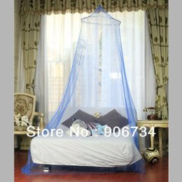 Wholesale Good Protecting Round Lace Insect Bed Canopy Netting Curtain Dome Net Outdoor Blue Colored