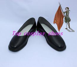 Wholesale axis power hetalia China Wang Yao cosplay shoes boots shoe boot black custom made SWJ02