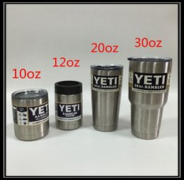 Wholesale Yeti Tumbler Cup oz oz oz oz Stainless Steel Beer Mug Insulation Cup Bilayer Stainless Steel Tumbler Mug DHL Shipping
