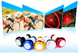 Wholesale 5 colors LED bicycle handle bar light ape hanger warning light turn signal aluminum alloy rubber large scale perspective bike safe light