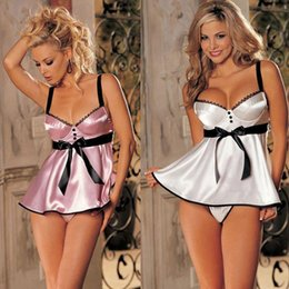 Wholesale Womens See Through sexy Underwear Baby Doll erotic sexy lingerie plus size Direct Selling Pajama Sleepwear