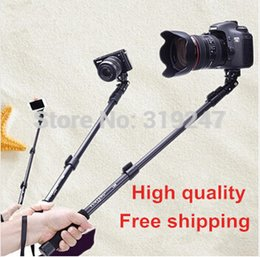 Wholesale-Top Quality Extendable 1.5Meter Handheld Telescopic Gopro Monopod Camera, Monopod For Cameras Cell Phones,Free Shipping