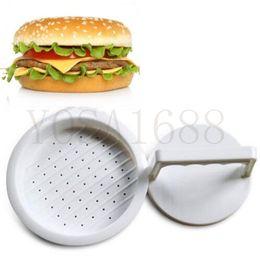 Wholesale Hot Sale DIY White Plastic Hamburger Meat Beef Poultry Grill Burger Press Patty Maker Mold Mould Kitchen Stufz Patties Machine