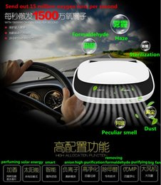 Wholesale top quality Car Air Purifier Box new Solar Energy Removing Formaldehyde Reduce PM2 Release Anion Air Freshener