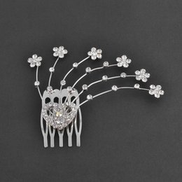 Wholesale Woman Emma Hair Comb in Jewelry Plating Silver Crystal lines with stones Made of Cooper Actress Shiny Rhinestone Hair Accessories