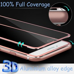 Wholesale 3D Edge Aluminum Alloy Tempered Glass Full Screen Protector For Apple iPhone S Plus H Hardness Screen Protective Film