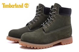 Wholesale Classic Leather Boots For Men - Original Classic 10061 Fashion Brand New Timberland 6-Inch Premium Boots For Men Waterproof outdoor Olive Green boots size 40-45