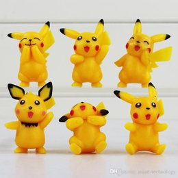Wholesale 12 set Pikachu Toys Version Mini Figure Doll PVC Toys Cute toys Best Birthday Gifts For Kids