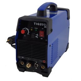 Wholesale HITBOX welding machine TIG200 AMP IGBT TIG MMA welder kg with package and torch earth clamp accessary