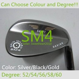 Wholesale 1 Piece New Brand Man Spin Milled SM4 Golf Clubs Wedge Vokey Degree Color Silver Black Gold