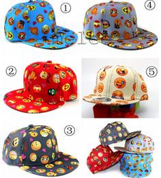 2016 Nouvelle bande dessinée pour enfants modèle QQ Emoji caps enfants Baseball chapeau plat le long des parents hip hop Emoji chapeaux de motif 5color choisissent le bateau libre à partir de hip hop enfant fabricateur