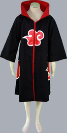 Wholesale-NARUTO anime cosplay Naruto cloak akatsuki costume halloween
